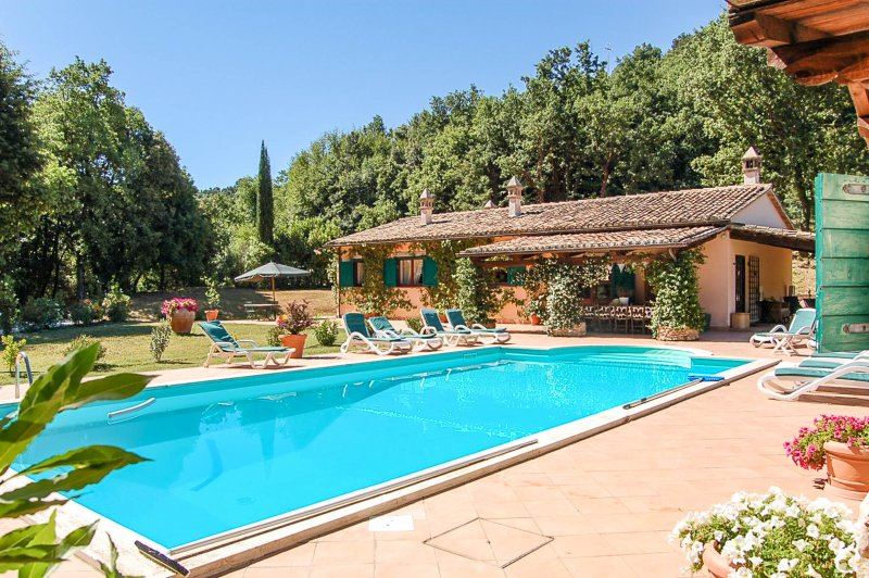 House with private pool, 2 bikes, big lawn & soccer goals. Quiet & relaxing area, location de vacances à Amelia