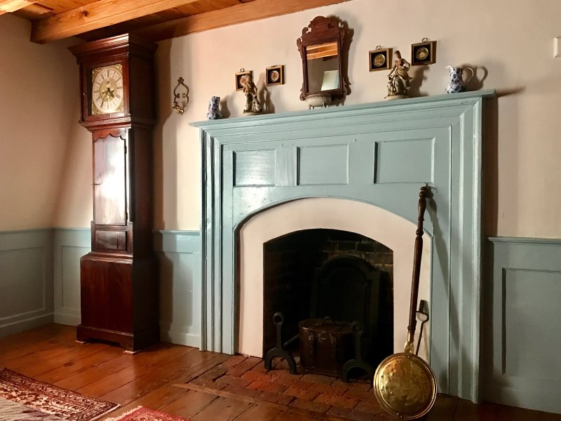 Blue Bedroom Fireplace