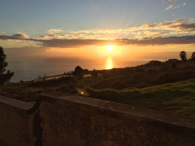 Coucher de soleil de la Villa Clementina