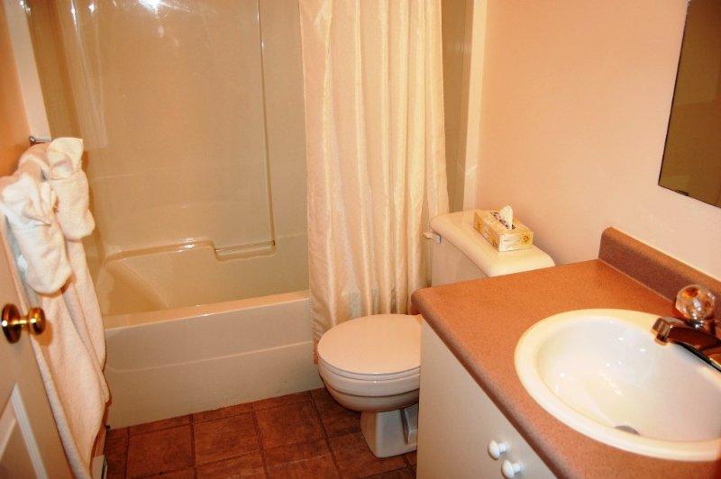 Beide Bäder verfügen über eine Dusche und Badewanne.
