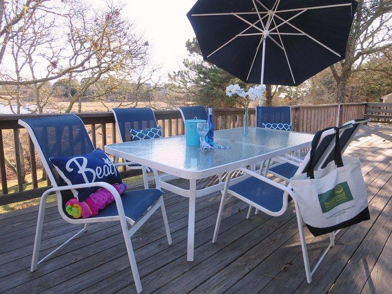 Posti a sedere per 6-8, ombrello per l'ombra e un grill a gas-84 Cranberry Lane-Chatham Cape Cod New England Case per le vacanze