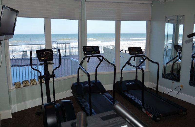 gimnasio frente al mar