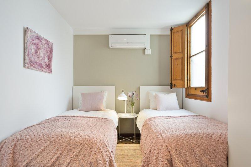 Segundo dormitorio con 2 camas individuales