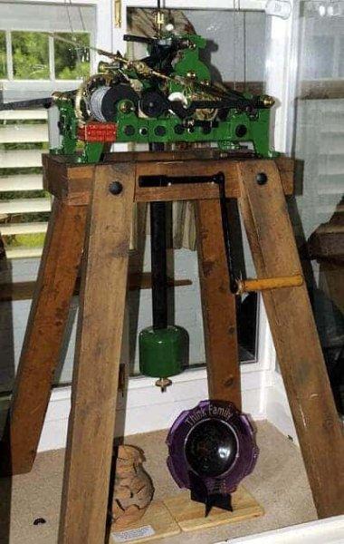 Een close-up van de werking van de negentiende eeuw klok in Graansilo