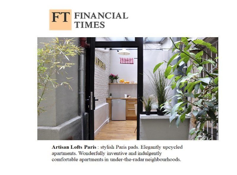 Selected by the Financial Times travel /Lifestyle edition, as reference in Hotel confort, Design.