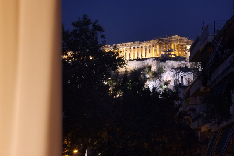 Acropolis view from the patio