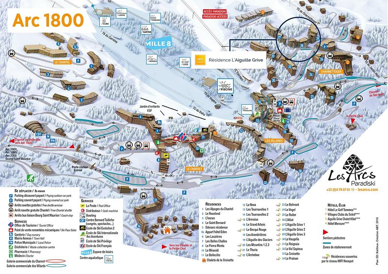 Arc 1800 full resort (Aiguille Grive III is # 29)