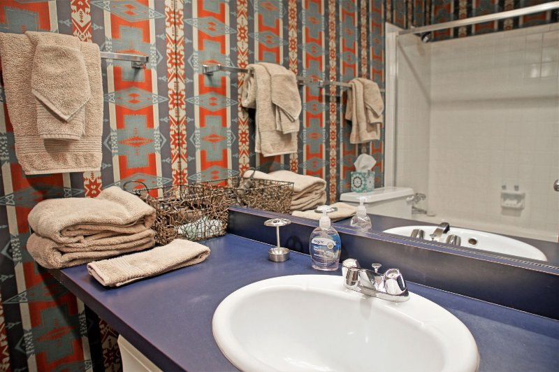 Bathroom 2 again with a large vanity