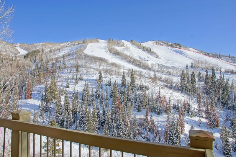 This top floor condo faces the slopes & has amazing panoramic views!