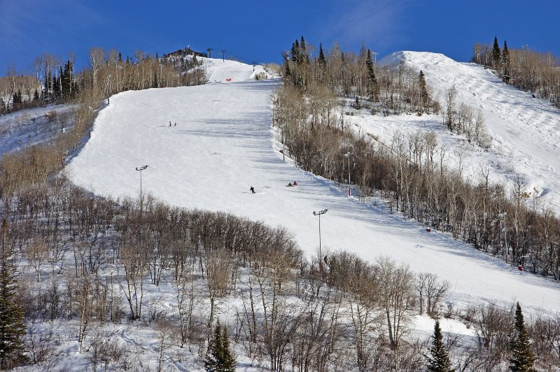 This is what the Vogue ski trail and the top of the Gondola look like to the naked eye