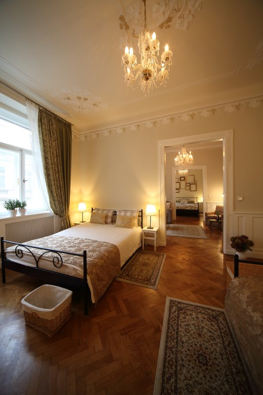 Double bedroom with adjoining french doors