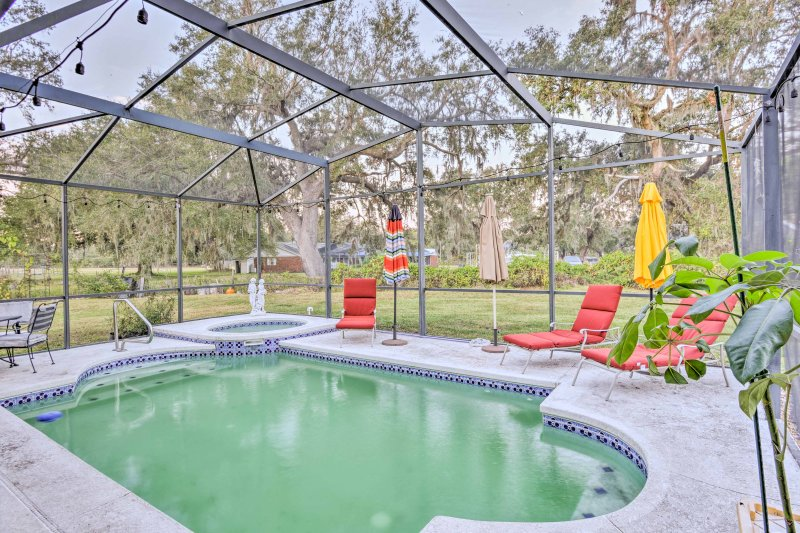 Elevate your Kissimmee vacation at this 5-bedroom, 3-bathroom vacation rental home with a private pool!