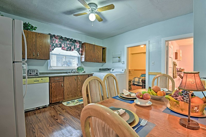 Host your family meals at the 4-person dining table.