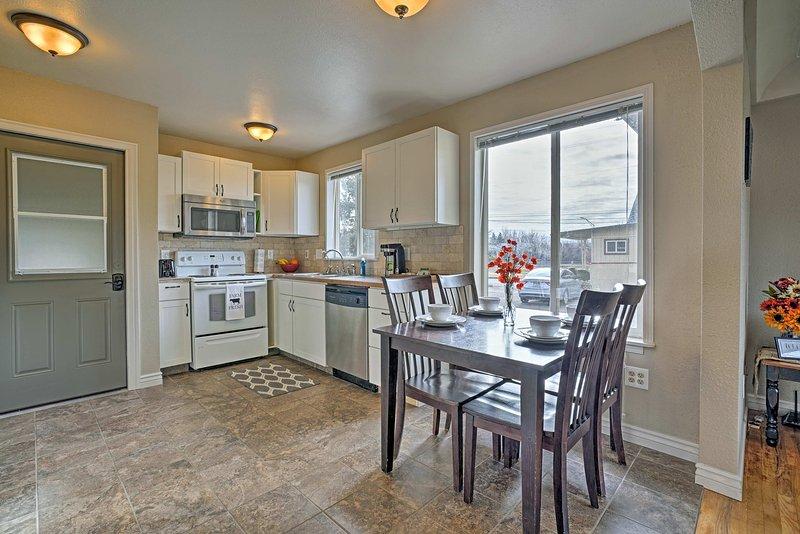 Disfrutar de la comodidad de una cocina totalmente equipada.
