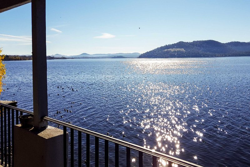 Your lakefront retreat begins at this 2-bedroom, 2.5-bathroom vacation rental house in Clearlake!