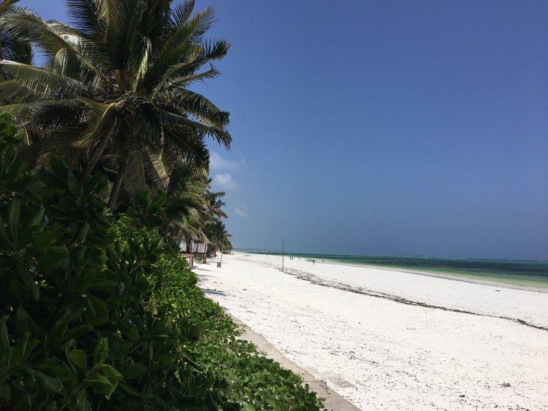 The beach- white pristine coralsand