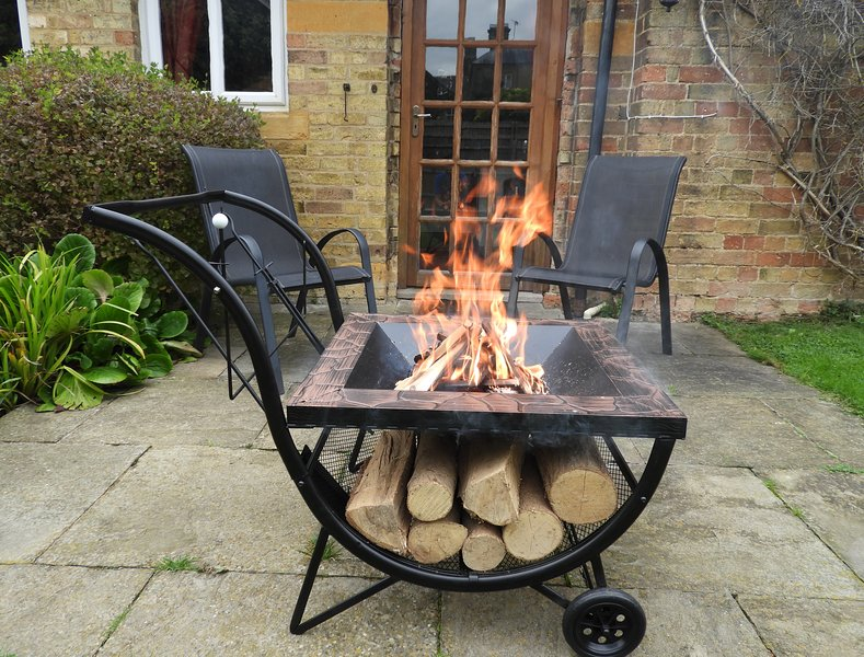 Fire pit available in the warmer months