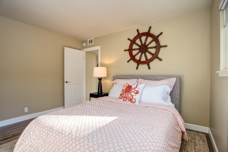 First bedroom with queen size Tuft and Needle bed. You'll love this ultra-comfortable mattress!