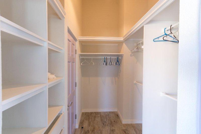 Walk in Closet in Master Bedroom (s)
