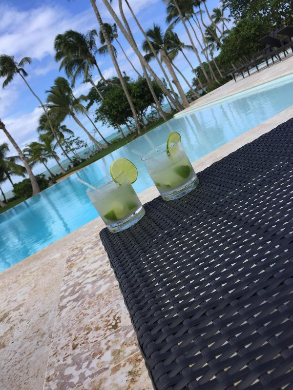sneak off to the pool ....a beverage bar on site too!