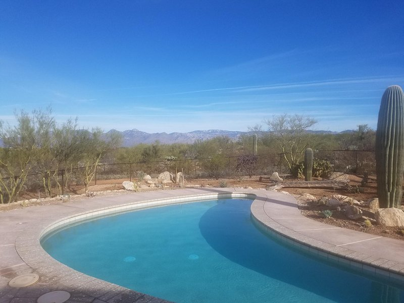 Pool Area with Catalina Mountains