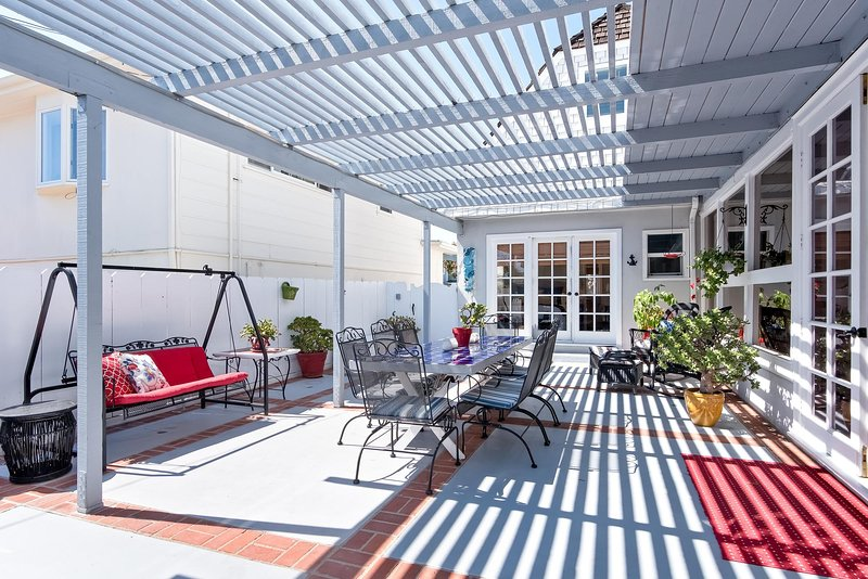 You'll love the private backyard patio!