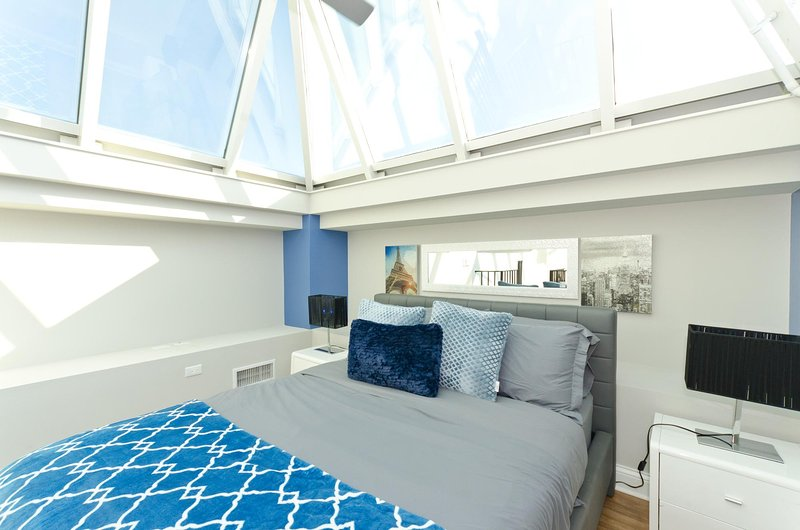 Loft space with queen bed