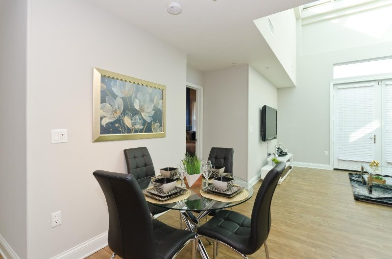 Dining area open concept to living room