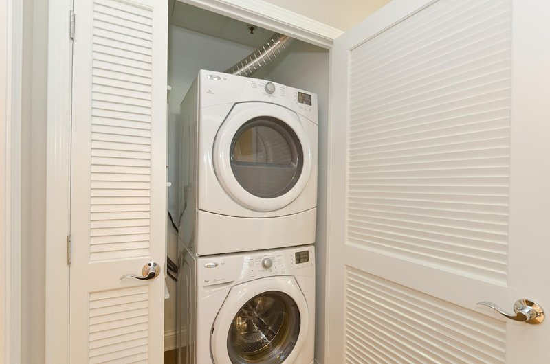 Laundry inside the suite