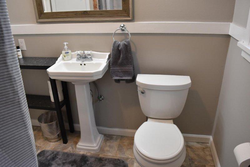 Piso principal casa de banho completa