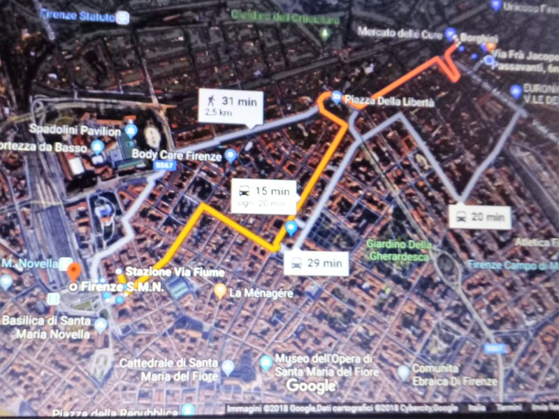 route from Santa Maria Novella station