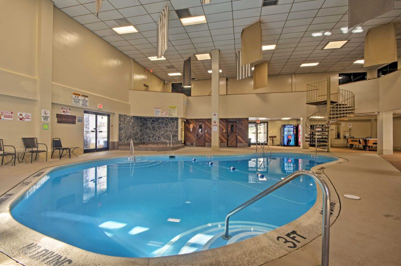 There's even an indoor swimming pool and hot tub for you to enjoy.