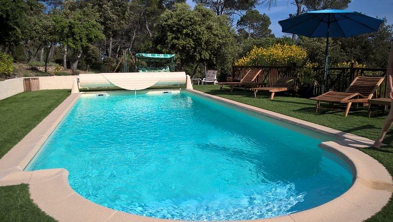 vue imprenable sur le lac, greoux, le luberon, le mont ventoux. piscine chauffée, holiday rental in Alpes-de-Haute-Provence