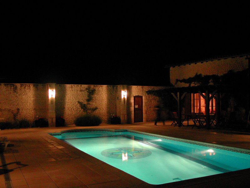 EVENING VIEW OF THE POOL AREA