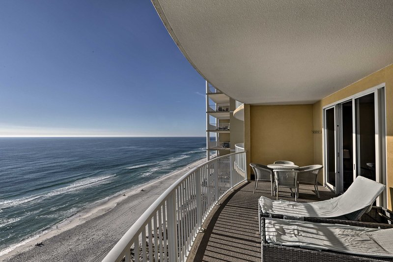Elevate your Panama City Beach vacation rental condo, directly on the ocean!