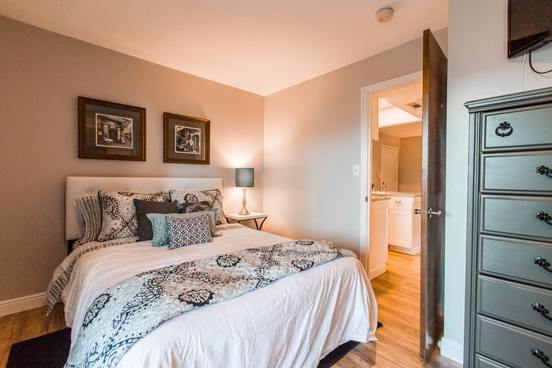 Bedroom - Queen Mattress w/ TV