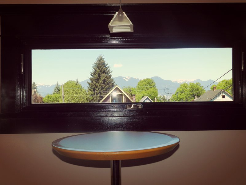 Mountain view from breakfast table