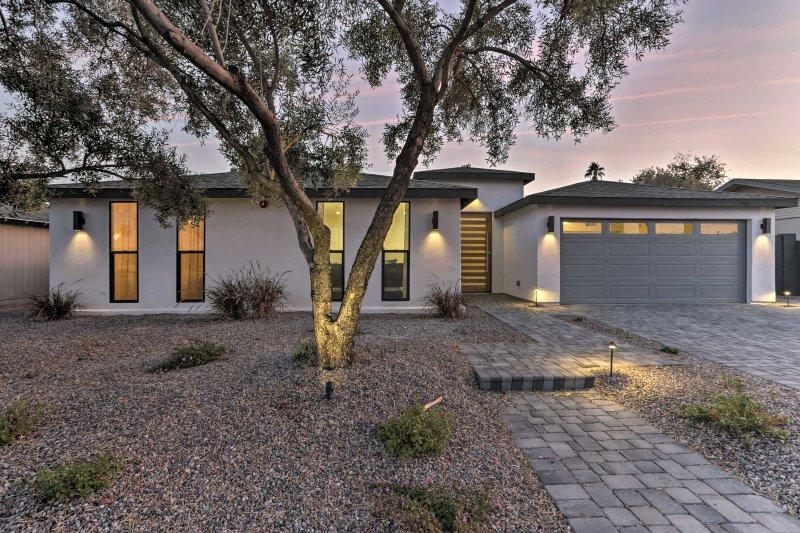 Esta casa se encuentra a pocos pasos del casco antiguo de Scottsdale.