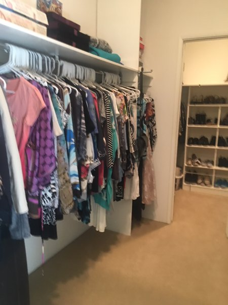 Spacious well lit master closets