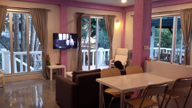 Open plan living and 2 dining areas
