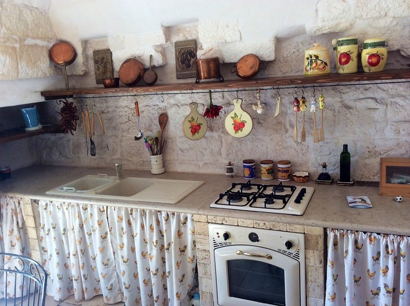 Küche alter Trulli