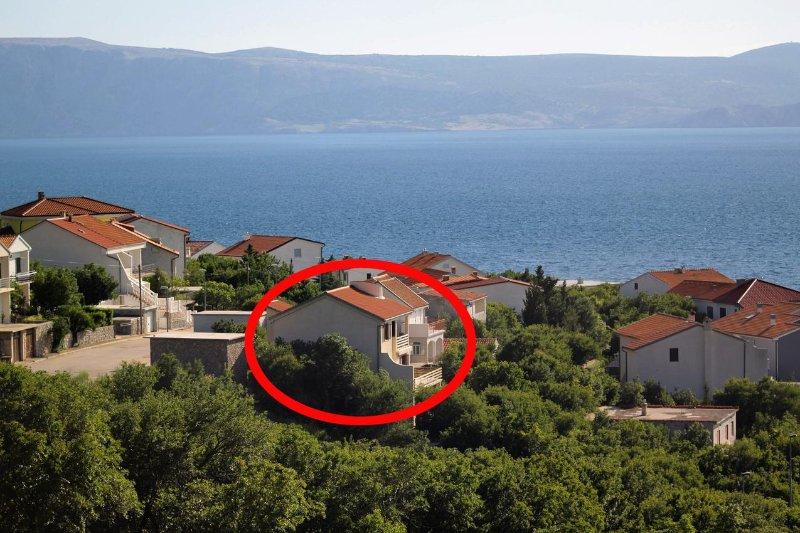 One bedroom apartment Klenovica, Novi Vinodolski (A-5504-b), holiday rental in Klenovica