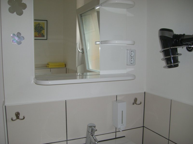 petite section du bain de douche