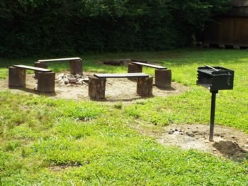 Firepit and grilling area