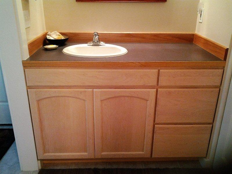separate bath vanity with sink