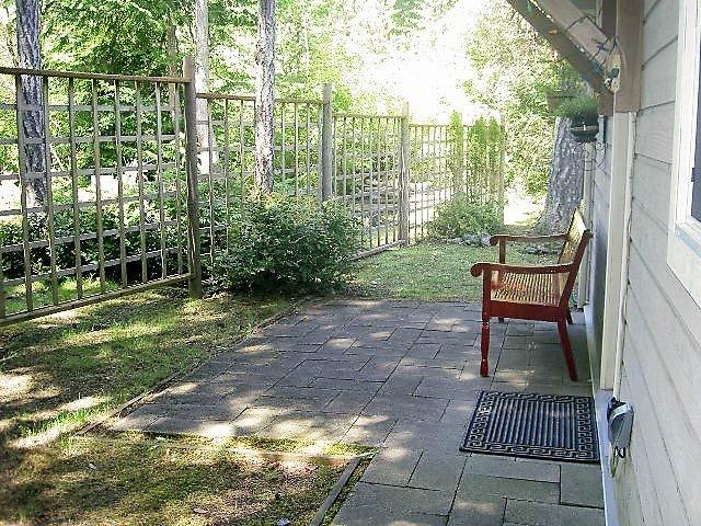 outside cottage sitting