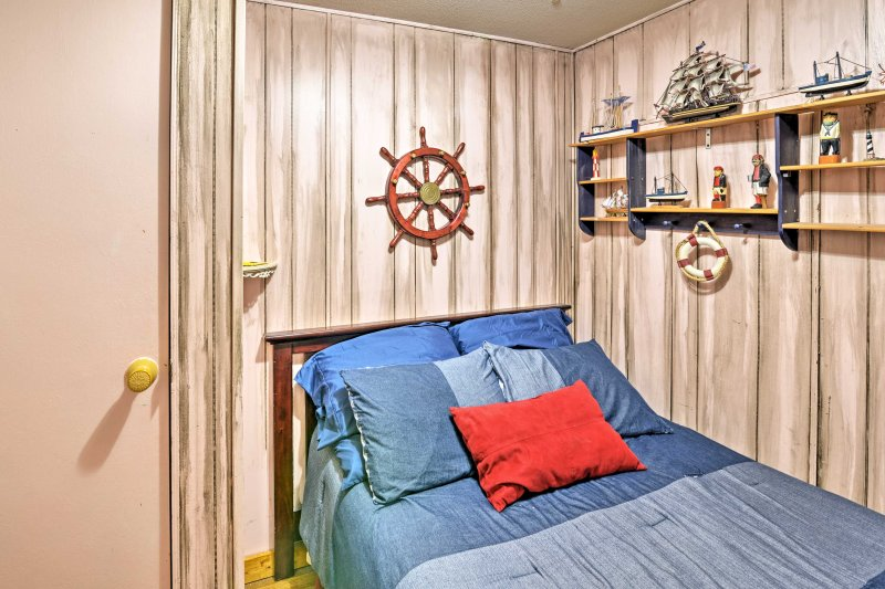 You're sure to love the nautical decor in this room.