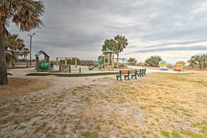 Kids will love the community playground.