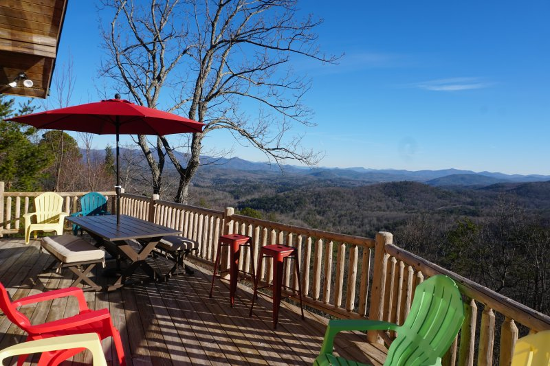 Incredible long range views across the BlueRidge into The Great Smokey Mountains in Tennesee