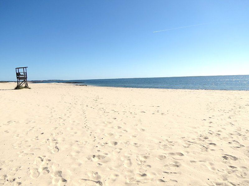 Just 0.3 miles to very appealing Red River Beach on Nantucket Sound. You can see Monomoy Island to the east.